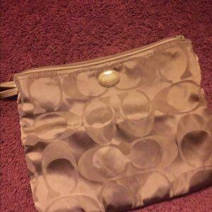 Coach makeup pouch clutch